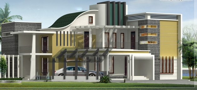 3750 sq-ft luxury villa exteri...