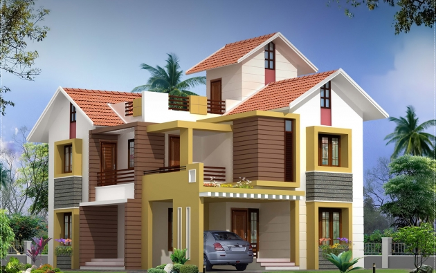 2000 sq.feet villa Elevation