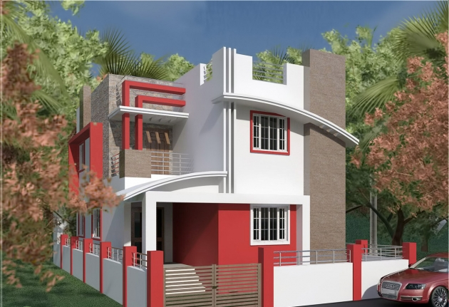 South Indian style villa design