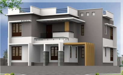 2500 sq.ft. 4 bedroom modern house
