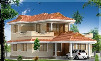 4 bedrooms model villa elevation design