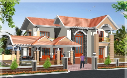 South Indian 2 storey house