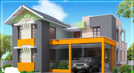 Modern 4 bedroom  home design ...