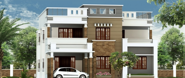 2600 sq.feet flat roof villa e...